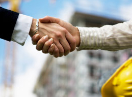 Image of two unseen individuals shaking hands