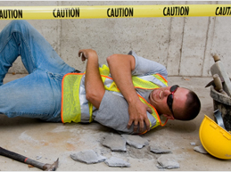 Image of an injured construction worker